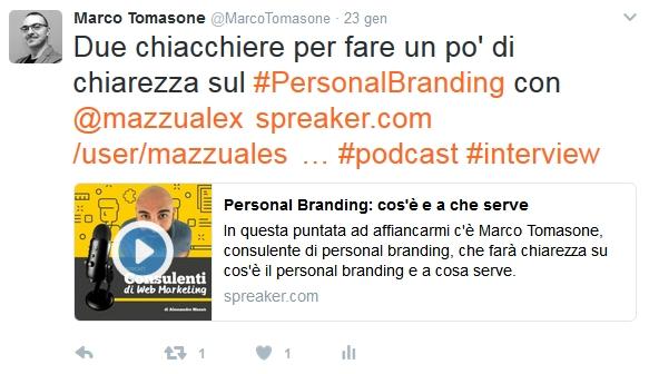 Marco Tomasone Twitter